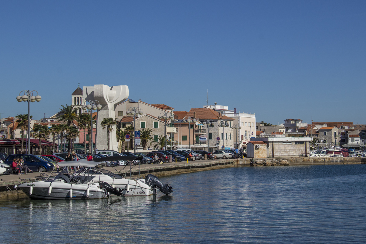 The sea front at Vodice in Croatia 1012