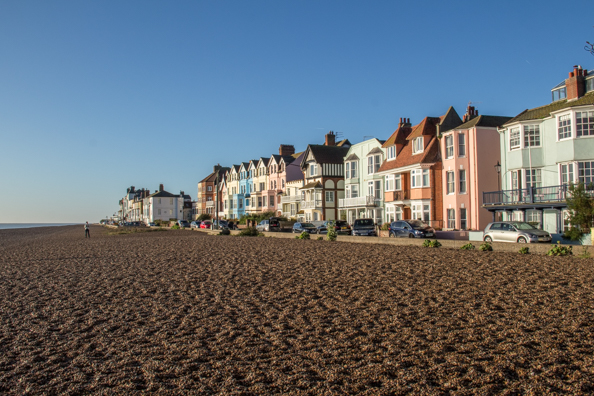 The sea front in Aldeburgh, Suffolk