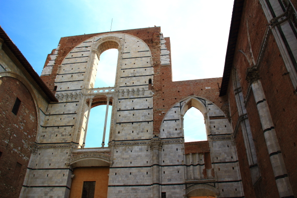 The Nuovo Duomo in Siena that was never completed