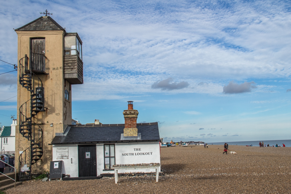 The South Lookout on the beach at Aldeburgh in Suffolk