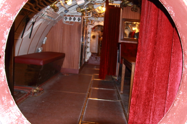 The stateroom on the submarine Lembit in the seaplane harbour museum in Tallinn