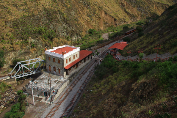 The station at Sibambe on the mountain railway in Ecuador