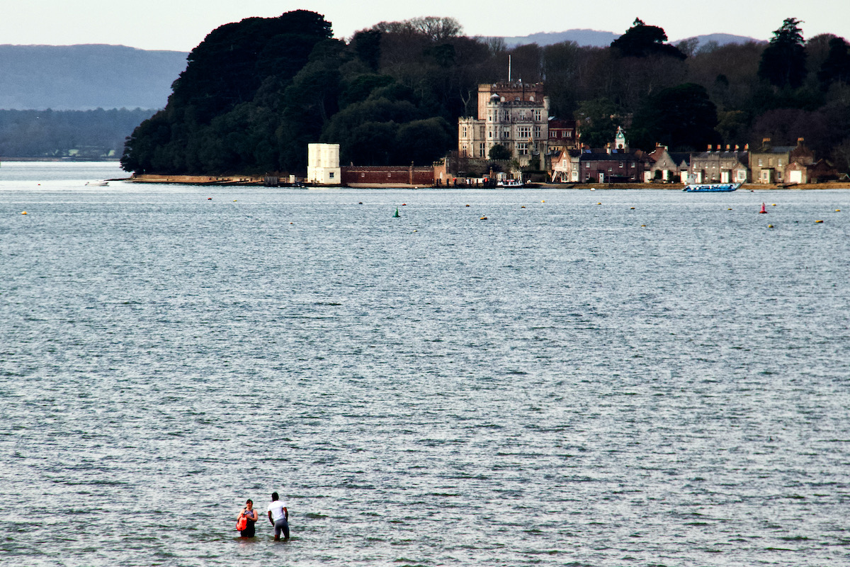 The Swimming Lesson in Poole Harbour, Dorset