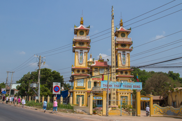 The temple in Trang Bang, the village where Kim Phuc was burned by napalm accidentally dropped by the Americans in  Vietnam