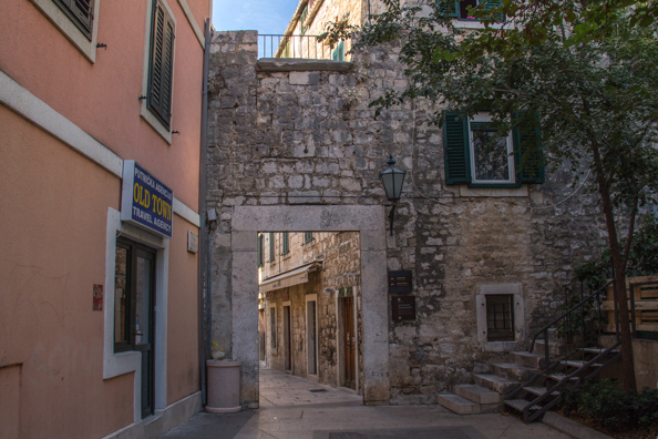 The Town Gate in Omis in the Dalmatian region of Croatia