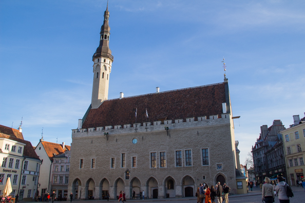 The Town Hall in Town Hall Square in Tallinn, Estonia