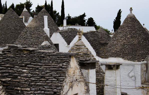 Panorama of Rione Monte in Alberobello, Puglia, Italy