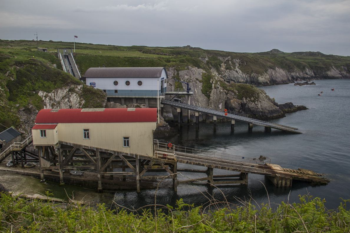 The two lifeboat stations at St Juntinian's on St David's Peninsula in Pembrokeshire, Wales   9161