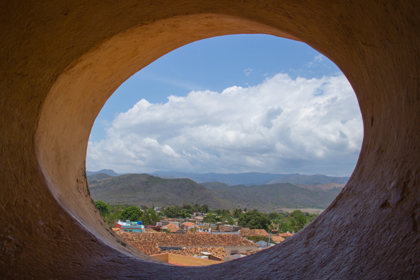 The view from the bell tower of the old Convent of St Francis in Trinidad de Cuba, Cuba
