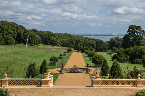 The view from the terrace at Osborne House, East Cowes on the Isle of Wight