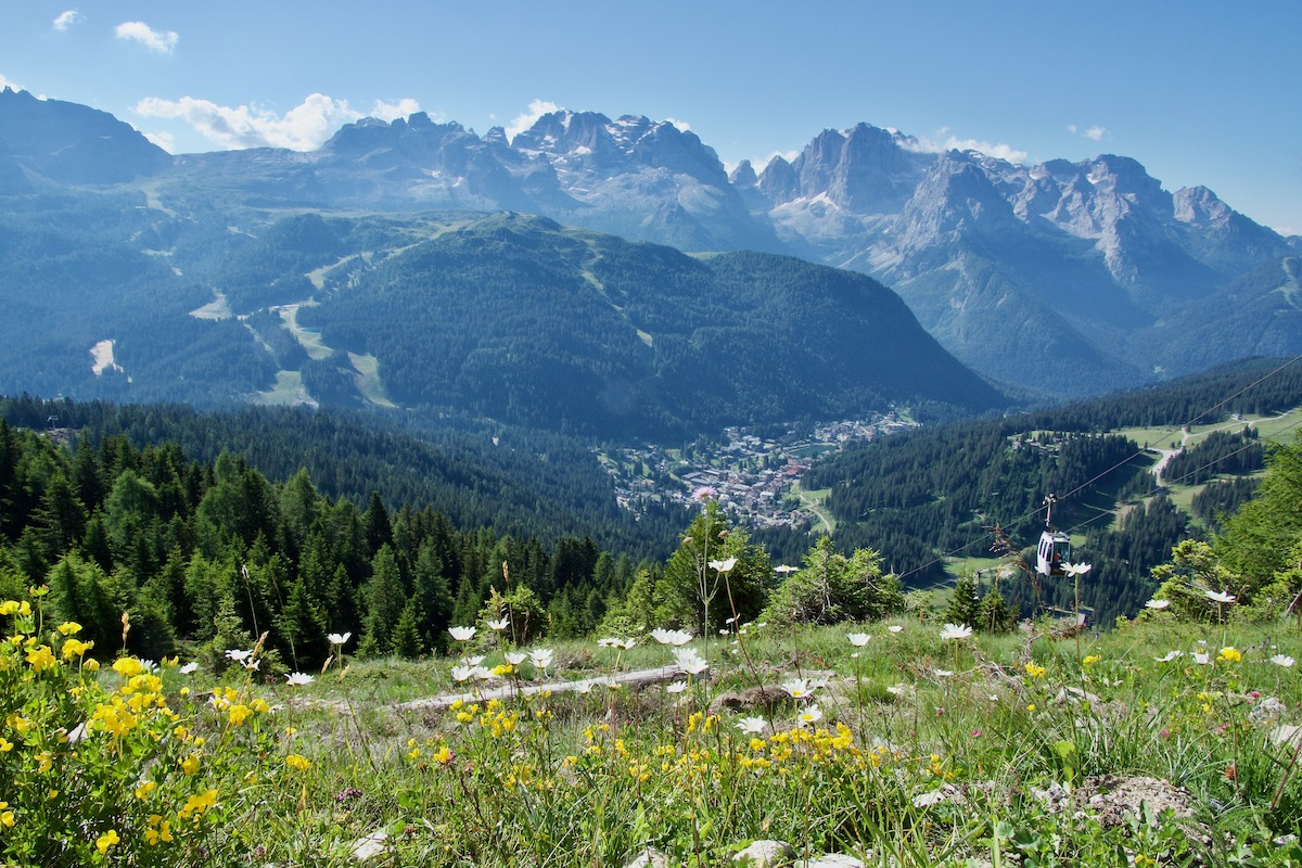 The View From the Top of Pradalago in Madonna di Campiglio, Italy