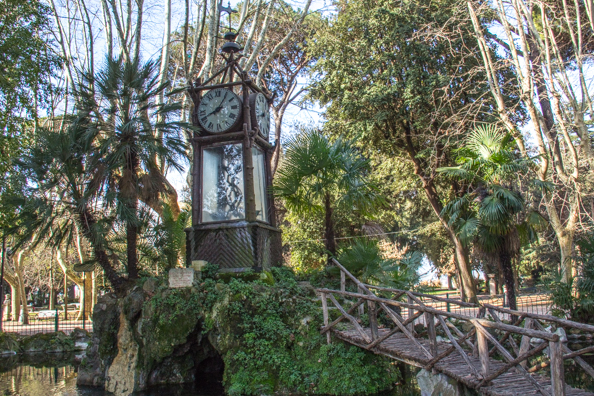 The Water Clock in Villa Borghese in Rome