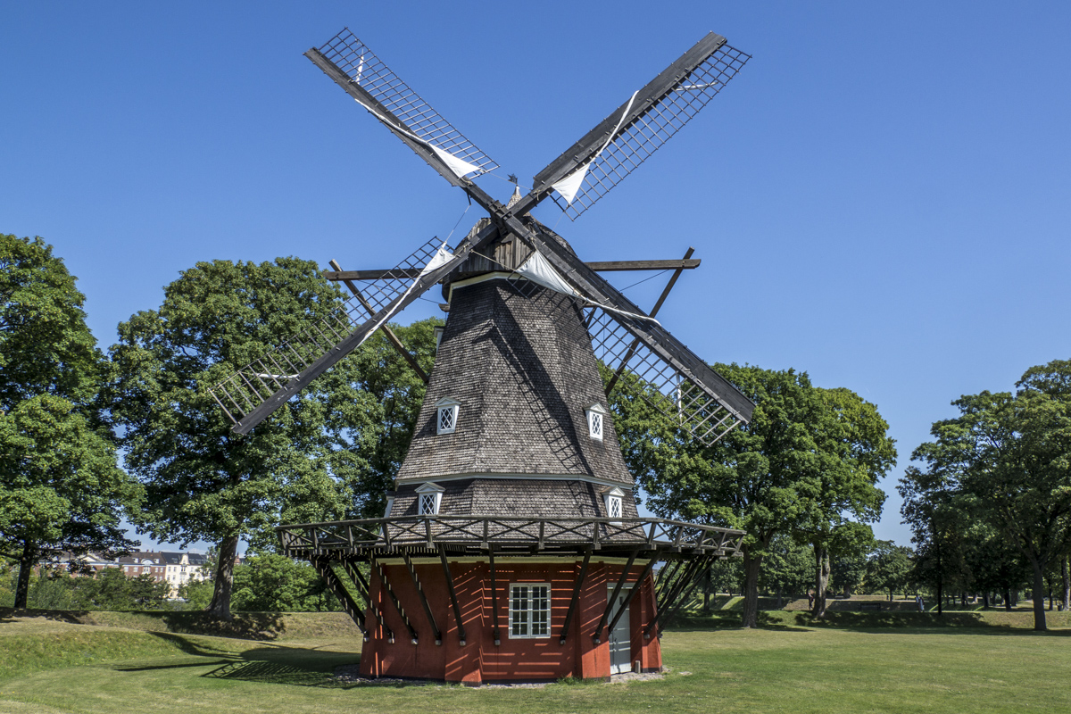 The Windmill in the Grounds of the Citadel in Østerbro, Copenhagen in Denmark     7245241
