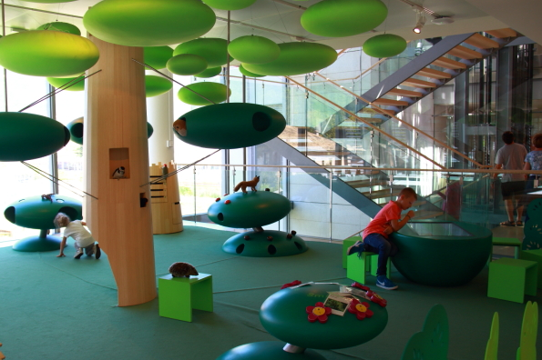 The play forest on the third floor of MUSE in Trento