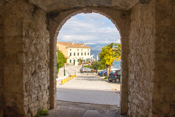Through the Gate of Ayios Nikolaos in Corfu old town