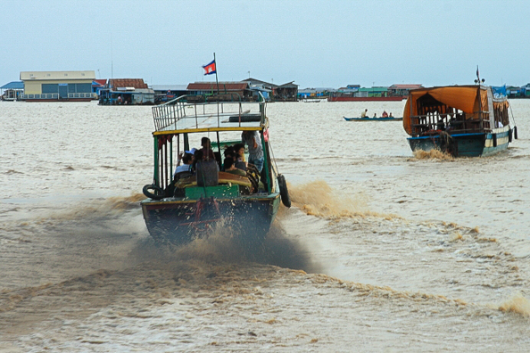 Tonle Sap Lake in Cambodia in November 2011