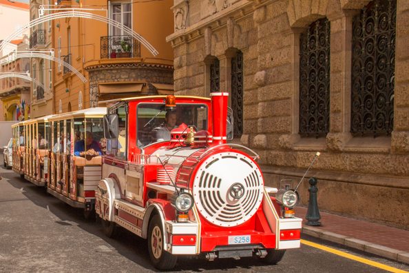 Tourist train in the streets of Monaco