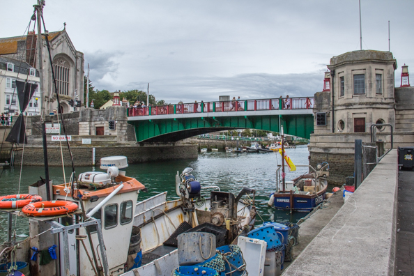 Town Bridge in Weymouth, Dorset, UK