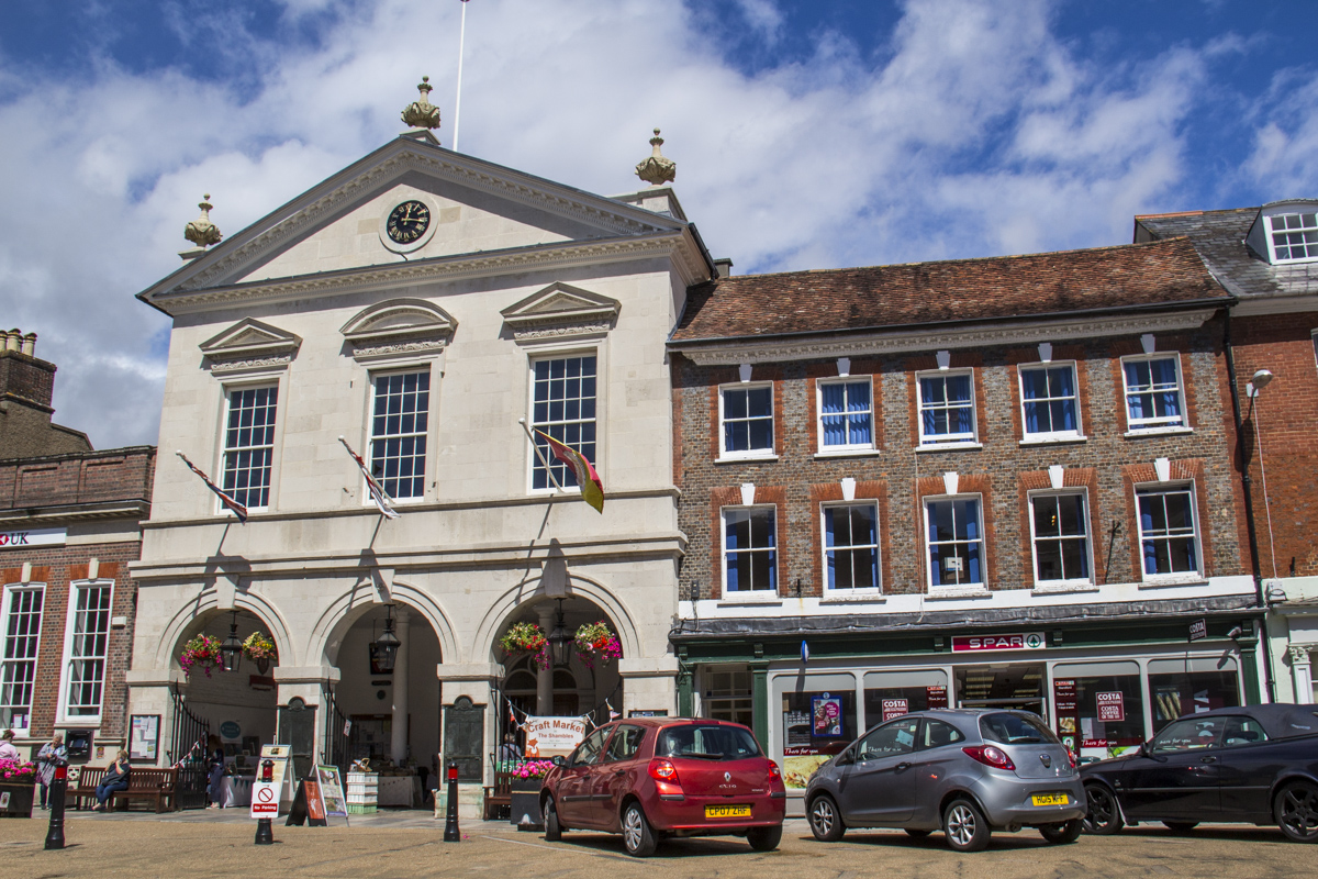 Town Hall and Shambles in Blandford Forum, Dorset UK 1722