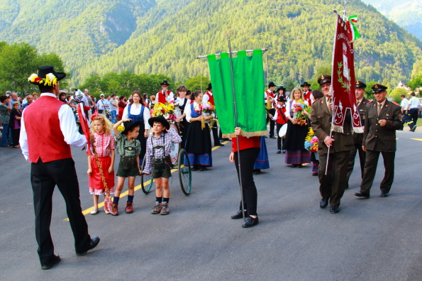 Traditional parade in Pinzolo
