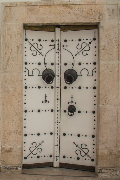 Traditional Tunisian door inside Bardo Palace in Tunis, Tunisia