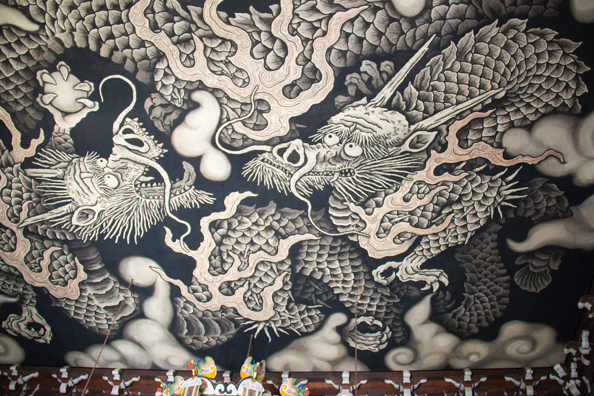Twin Dragons by  Koizumi Junsaku at Kennin-ji Temple Temple Kyoto, in Japan