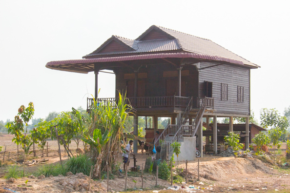 Typical Cambodian farmhouse near Siem Reap,  Cambodia
