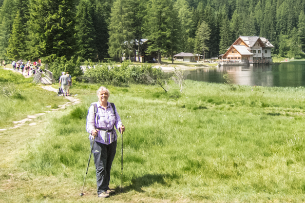 Valery walking in the Italian Dolomites July 2013