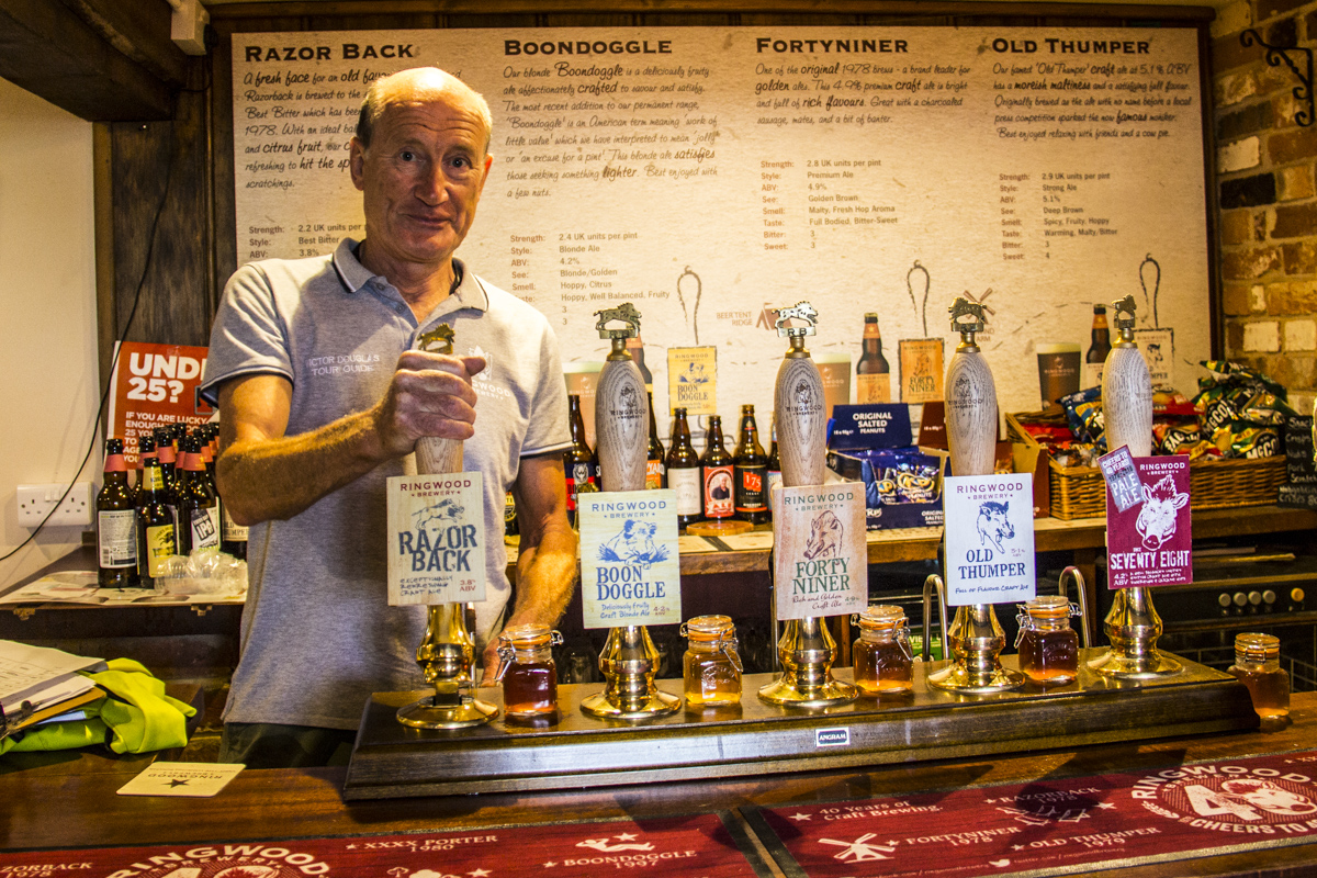 Victor, guide at Ringwood Brewry in Ringwood, New Forest, UK2156