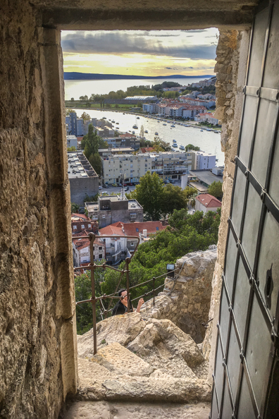 View from Fortress Mirabella in Omis in the Dalmatian region of Croatia