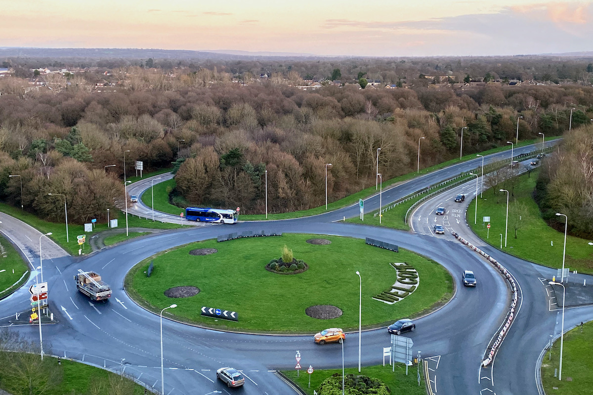 View from my Room at the Premier Inn, Gatwick Airport