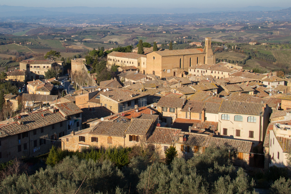 View from Rocca di Montestaffoli in San Gimignano, Tuscany Italy
