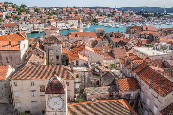 View from the bell tower of the Cathedral of St Lawrence in Trogir, Croatia