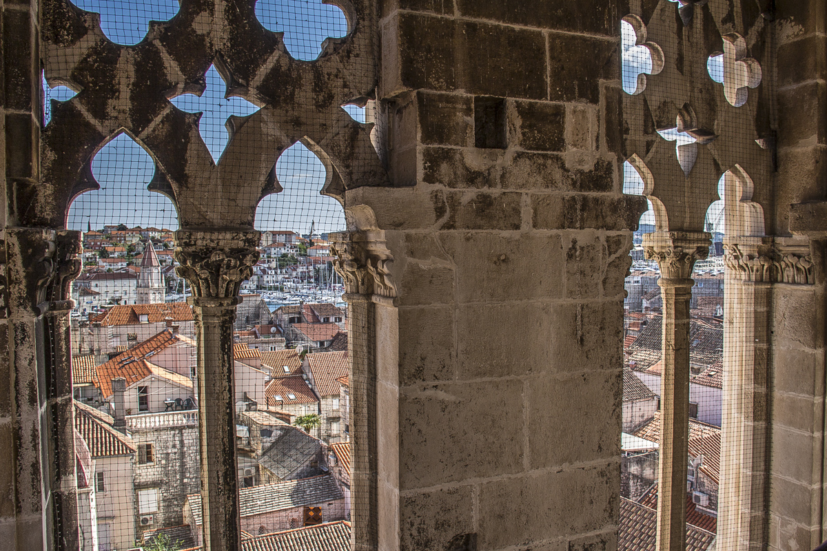 View from the cathedral bell tower in Trogir, Croatia 5898