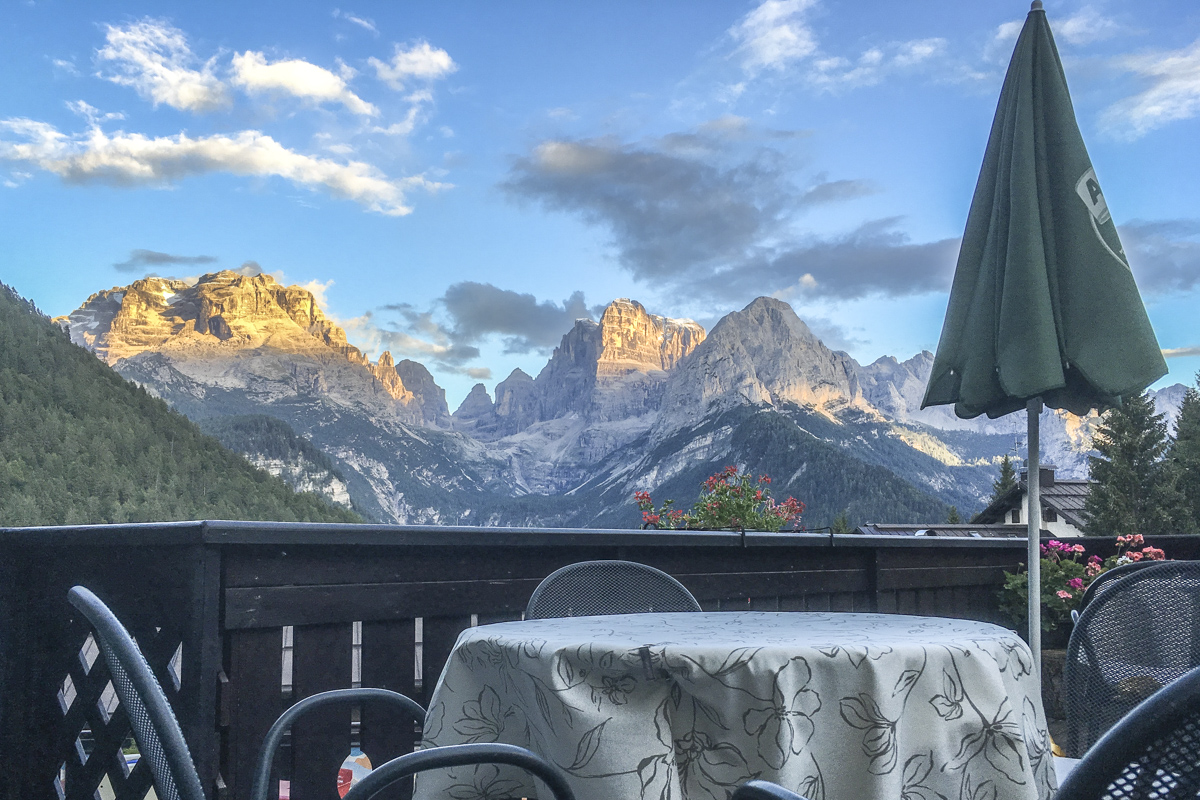 View from the Hotel Lorenzetti in Madonna di Campiglio, Trentino, Italy 8042