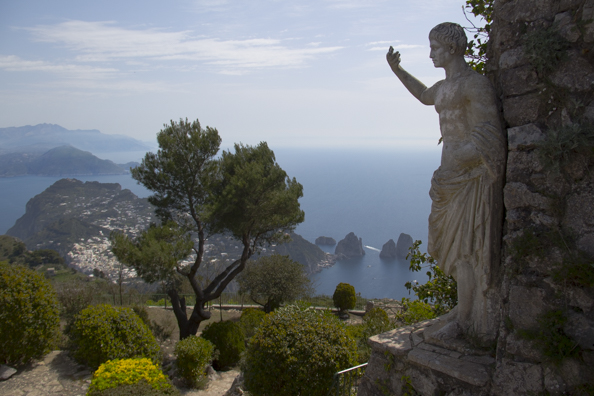 View from the top of Monte Solaro on Capri