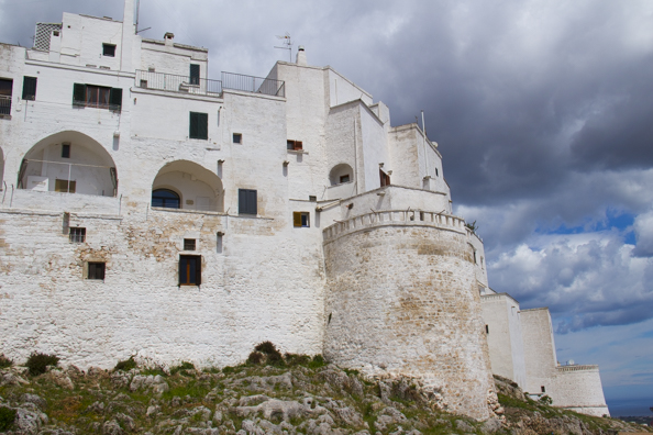 View from Viale Oronzo Quaranta of the old town of Ostuni in Puglia, Italy
