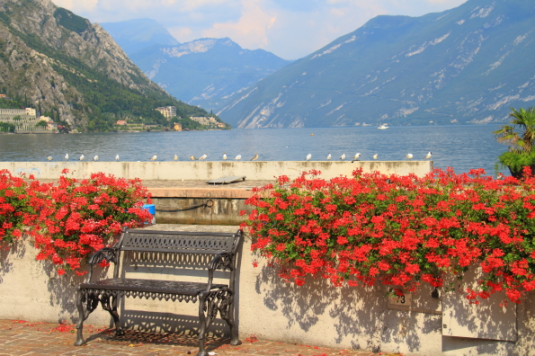 View of Lake Garda from Limone
