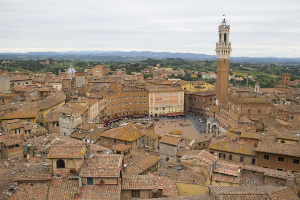 View of Siena from panorama dal facciatone in Siena, Tuscany in Italy