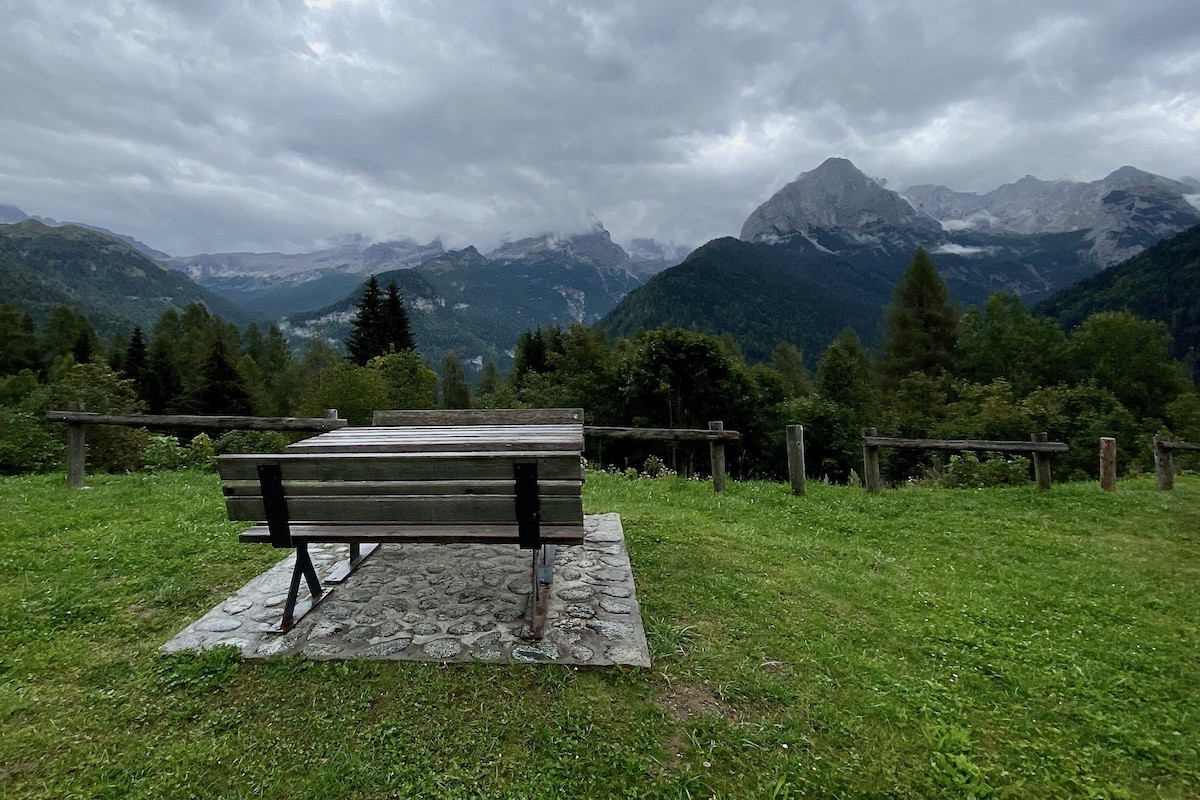 Viewpoint Overlooking the Brenta Dolomites in Italy