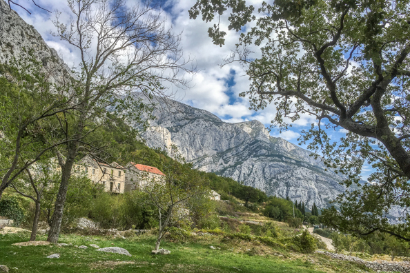 Village of Makar on Mount Biokovo on the Makarska Riviera in Croatia