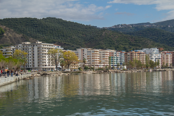 Vlore on the Albanian Riviera in Albania