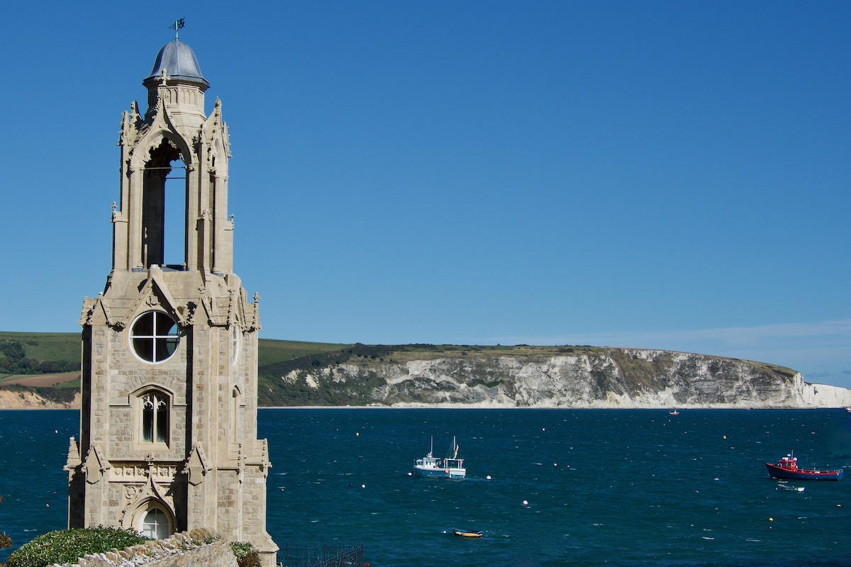 Wellington Clock Tower in Swanage, Dorset