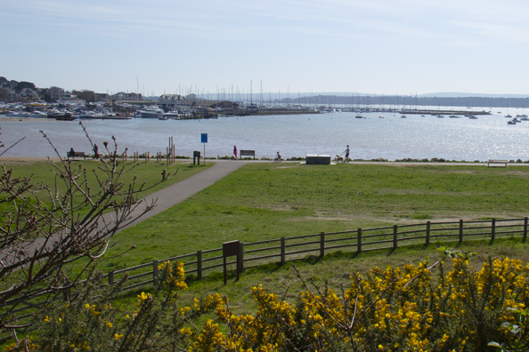 Whitecliff recreation ground on Parkstone Bay  in Poole Harbour