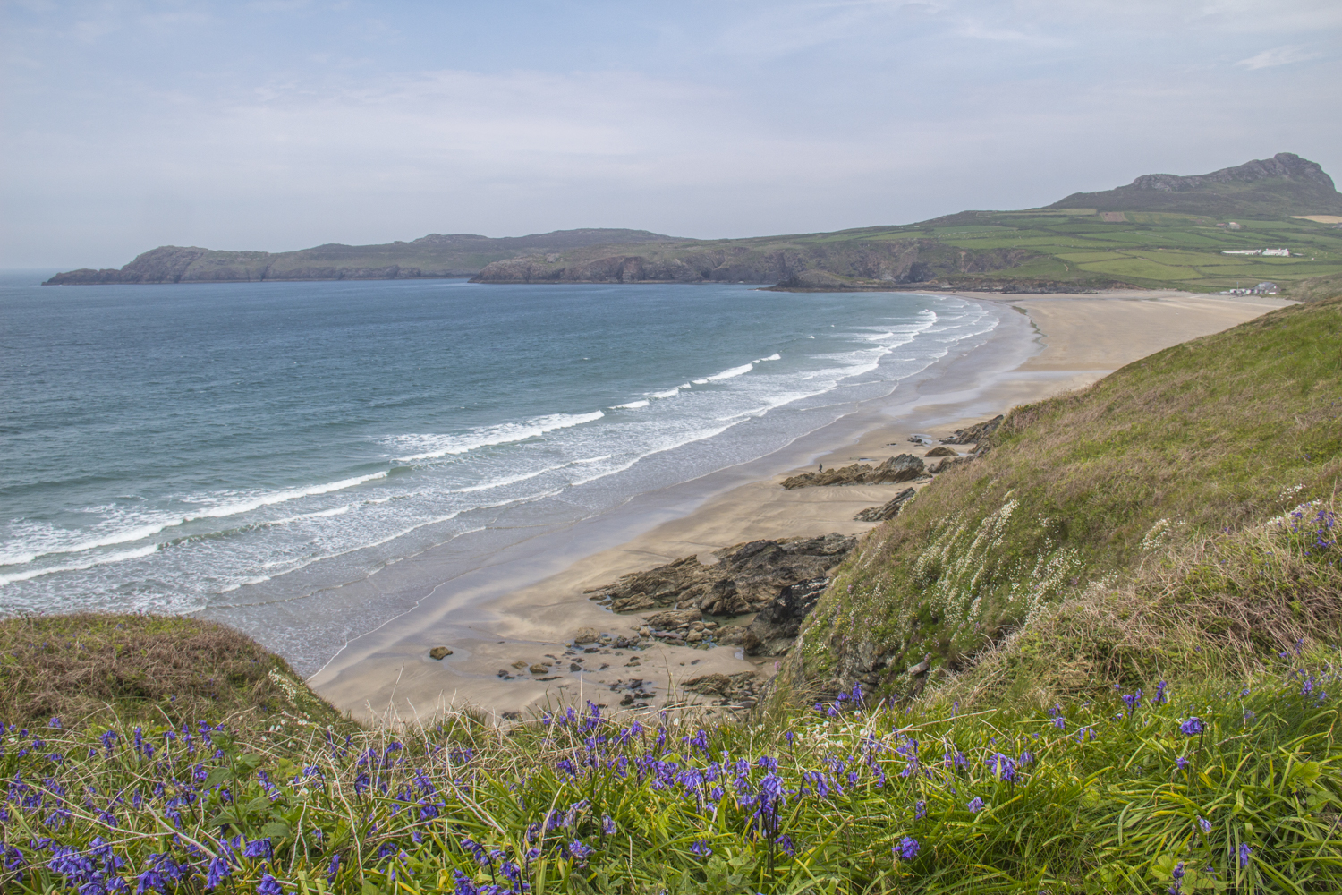 Whitesands from the Coastal Path near St David's in Pembrokeshire in Wlaes  9122