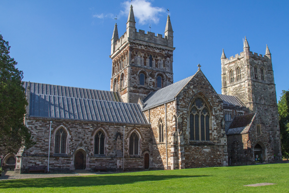 Wimborne Minster in Wimborne, Dorset UK