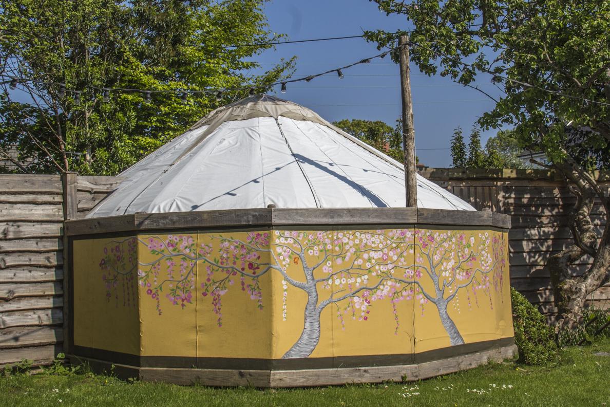 98c360655005 Yurt in the garden at Llys Meddyg in Newport